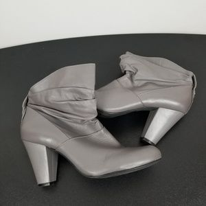 BCBGGeneration gray high heel booties size 8.5